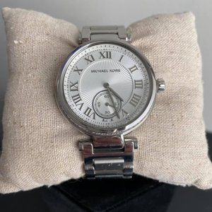 Michael Kors - Silver Watch with Baguette Bling